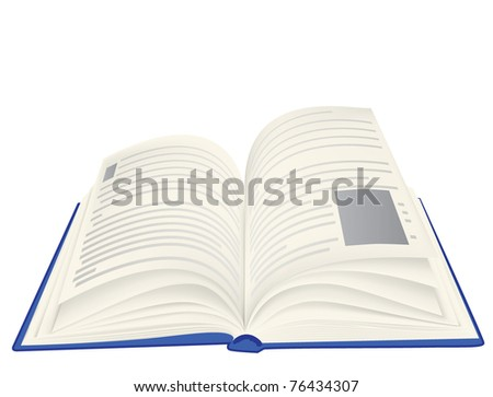 illustration of an open book - stock vector