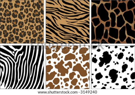 illustration of animal skin textures, background patterns