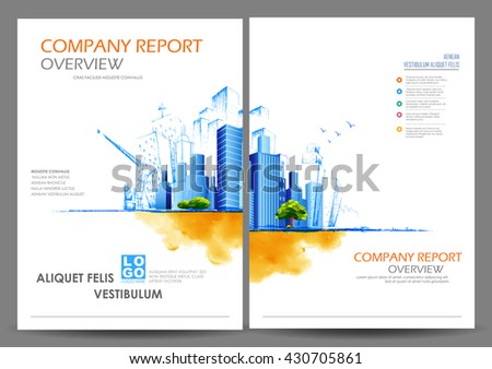 illustration of Annual report and presentation Leaflet Brochure Flyer and book cover layout template design