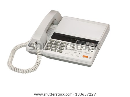 Illustration of answerphone isolated on white background - stock vector