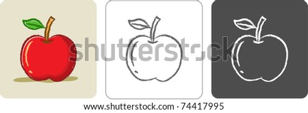 Illustration of Apple Color Sketch - stock vector
