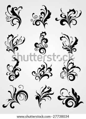 illustration of artistic tattoos background