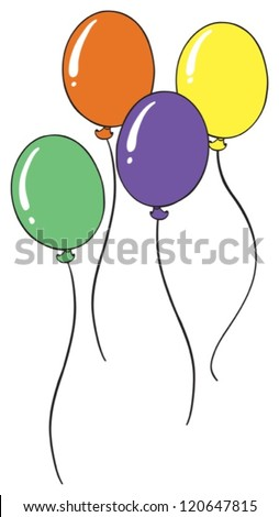 illustration of balloons on a white background - stock vector