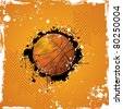 illustration of basketball on abstract grungy background - stock vector