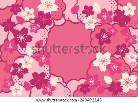 Illustration of beautiful cherry tree sakura - stock vector