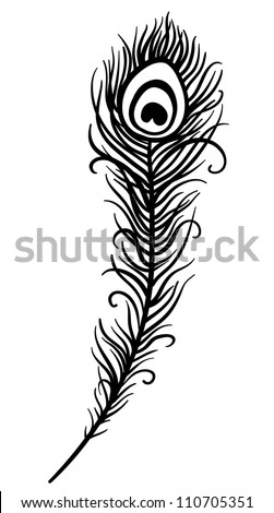 beautiful peacock feather Peacock Pattern Outline