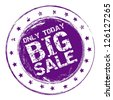 Illustration of  Big Sale label, grunge seal, vector illustration - stock vector