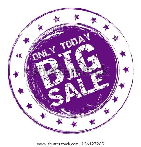 Illustration of  Big Sale label, grunge seal, vector illustration - stock vector