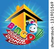 illustration of bingo house - stock photo