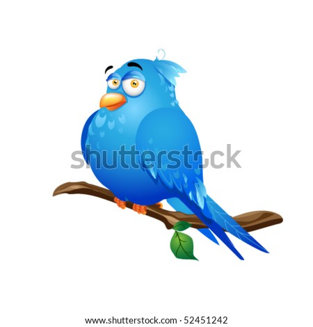 illustration of bird with white background - stock vector