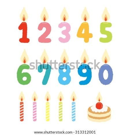 Illustration of birthday candles - stock vector