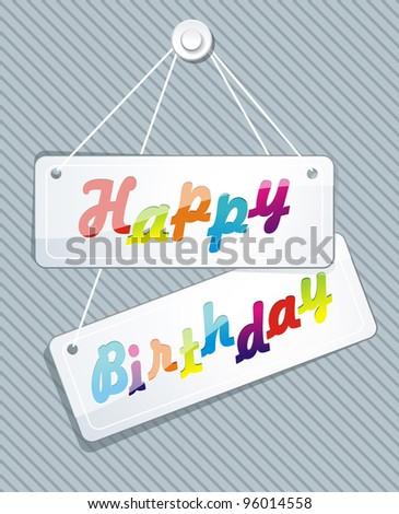 illustration of birthday card - stock vector