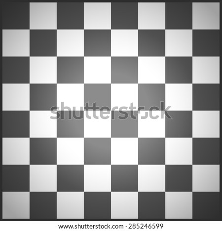 illustration of black chess field view from top - stock vector