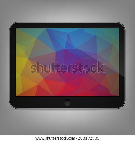 Illustration of black tablet  - stock vector