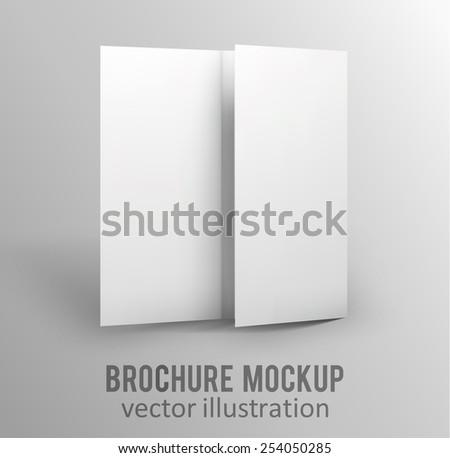 Illustration of Blank brochure. 3d illustration - stock vector