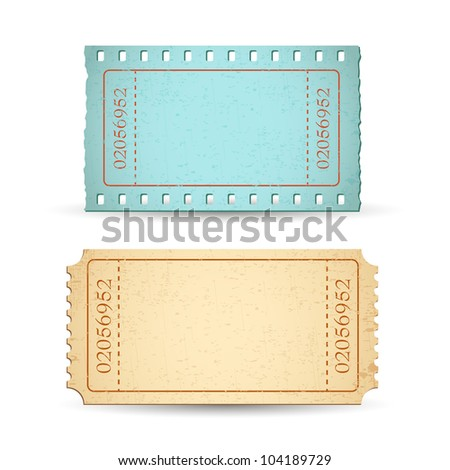 illustration of blank ticket with copy space - stock vector
