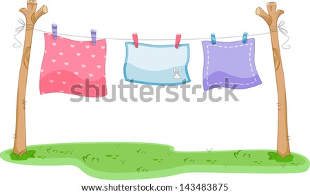 Cute color panties on clothesline stock vector 397721923 - Tenderos de ropa ...