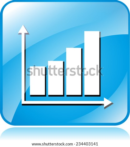 illustration of blue square icon for graph