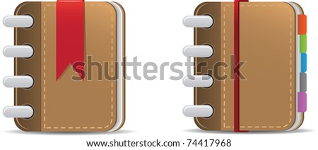 Illustration of Book and agenda - stock vector