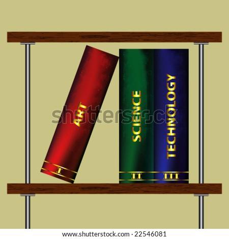 Illustration of Bookshelf -Vector Art- - stock vector