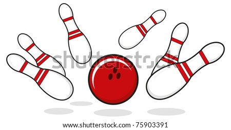 illustration of bowling - stock vector