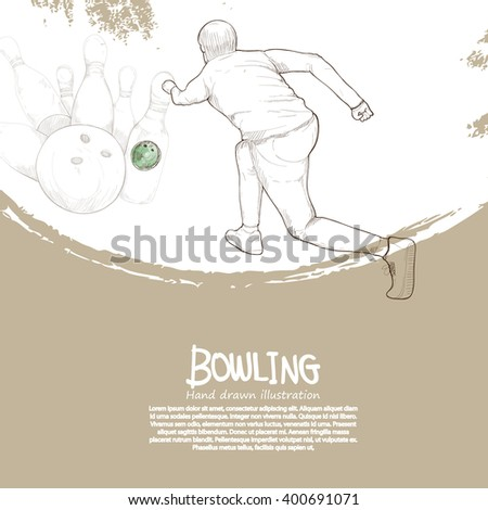 illustration of bowling background