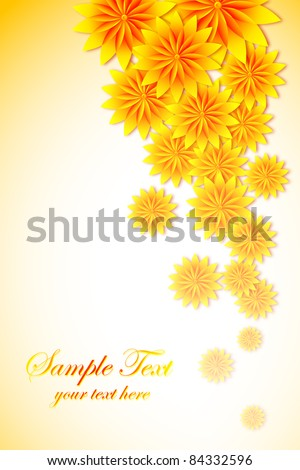 illustration of bright colorful flower on abstract background - stock vector