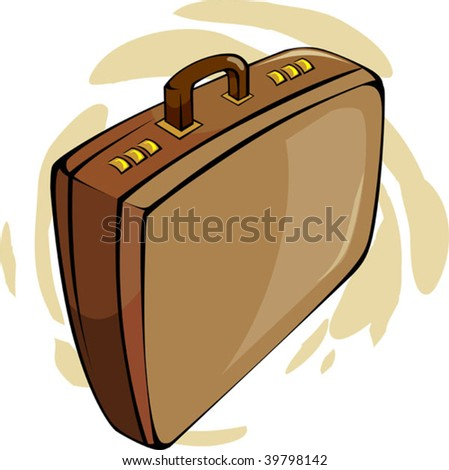 Illustration of brown suitcase