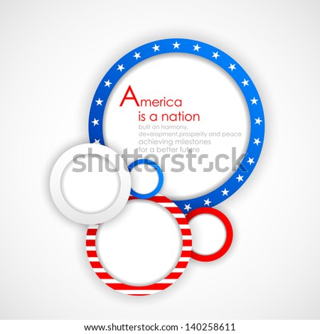 illustration of bubble design in American Flag color for Independence Day - stock vector