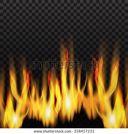 illustration of burning fire.vector illustrator - stock vector