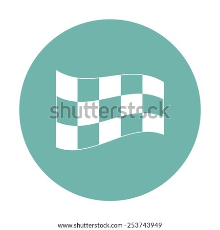 illustration of business and finance icon flag - stock vector