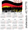 Illustration of calendar for 2010. year - stock vector
