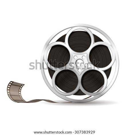 Illustration of camera reel, EPS 10 contains transparency