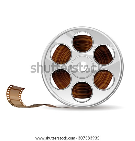 Illustration of camera reel, EPS 10 contains transparency - stock vector