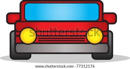 illustration of car - stock vector
