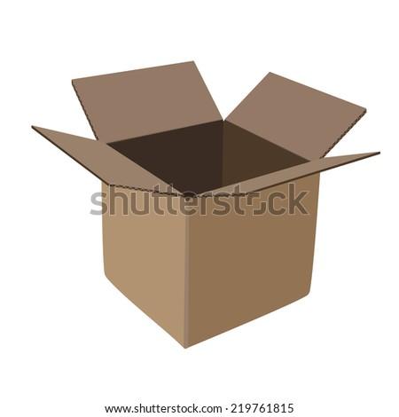 Illustration of cardboard box,  box,  cardboard,  packaging,  cardboard box isolated - stock vector