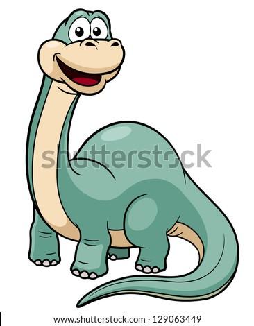 illustration of Cartoon dinosaur vector - stock vector