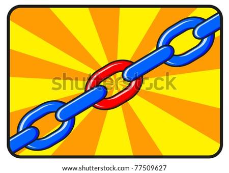 illustration of chain - stock vector