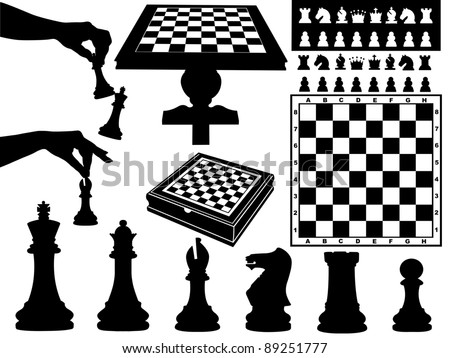Illustration of chess pieces