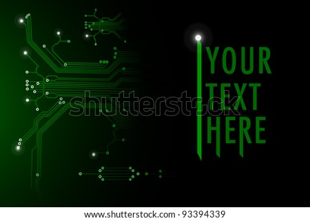 illustration of circuit in abstract technology background