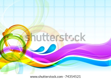 illustration of circular pattern on abstract background - stock vector