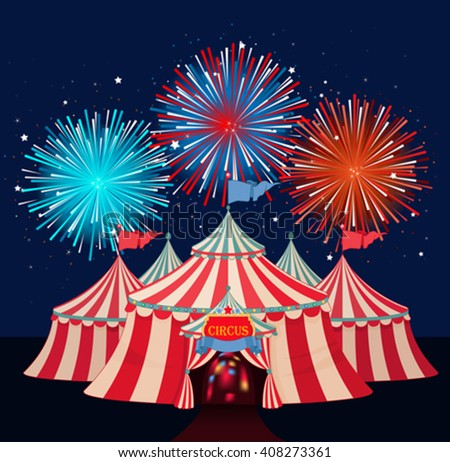 Illustration of circus marquee  sc 1 st  Shutterstock & Fireworks Tent Stock Images Royalty-Free Images u0026 Vectors ...
