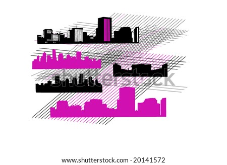 Illustration of city - stock vector