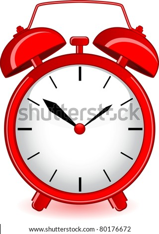 illustration of classic alarm clock on background - stock vector