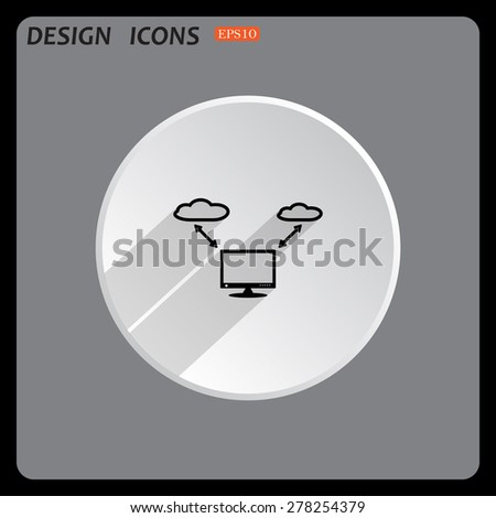 illustration of cloud storage. icon. vector design