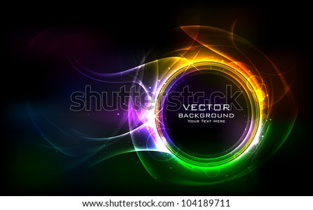 illustration of colorful abstract vector background - stock vector