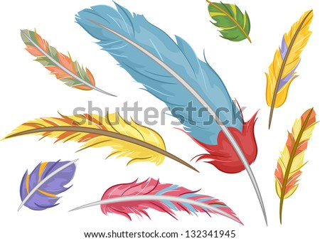 how to draw a cartoon feather