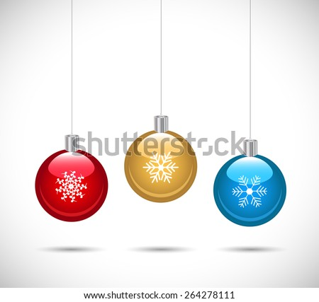 Illustration of colorful ornaments isolated on a white background. - stock vector