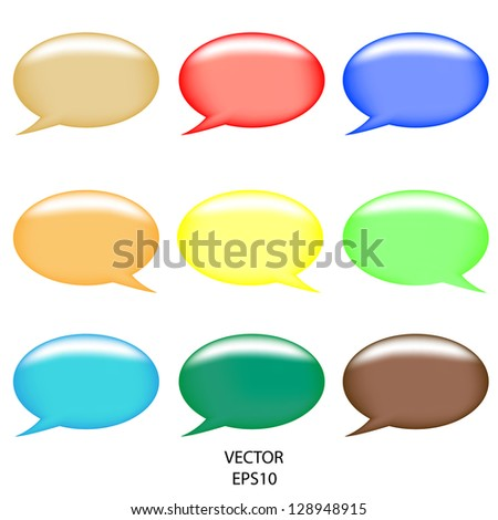 illustration of colorful speech bubble on abstract background,abstract talking bubble,colorful text  box,vector - stock vector