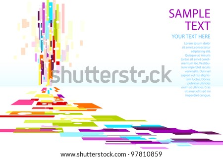 illustration of colorful stripe on abstract background - stock vector